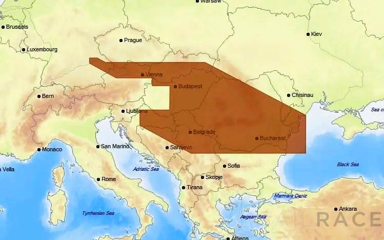 (C-MAP Cartography) C-MAP MAX-N W: DANUBE: KELHEIM-BLACK SEA