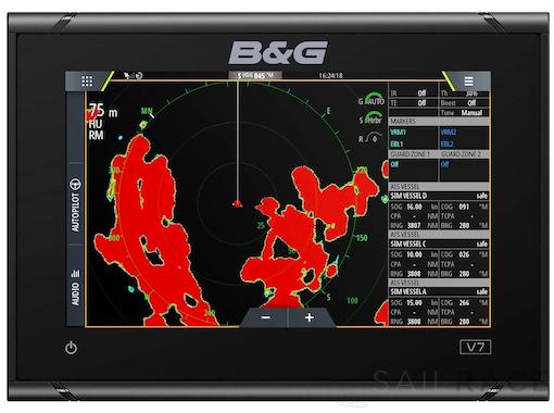 B&G 7-inch chartplotter and radar display with global basemap - image 2