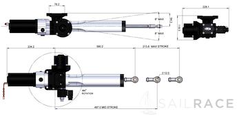 B&G HYDRAULIC RAM T0 12V - image 2