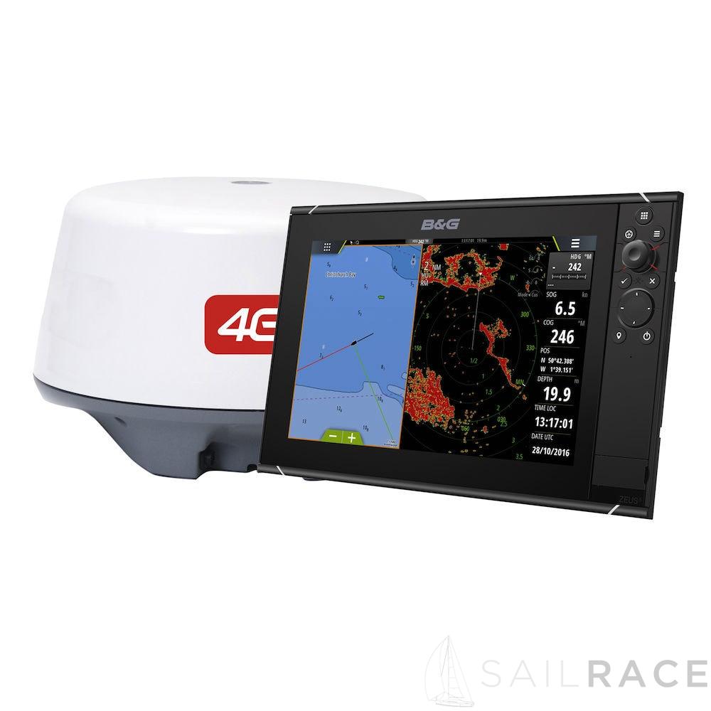 "SailRACE B&G Zeus³ 9"" Chartplotter with Broadband 4G Radar   ROW"