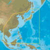 C-MAP AN-N050 : MAX-N C: ASIA NORTH CONTINENTAL : Indian Ocean and Asia  - Continental