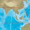 C-MAP AS-N050 : MAX-N C: ASIA SOUTH CONTINENTAL : Indian Ocean and Asia - Continental