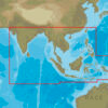 C-MAP AS-Y050 : MAX-N+ C: ASIA SOUTH CONTINENTAL : Indian Ocean and Asia  - Continental