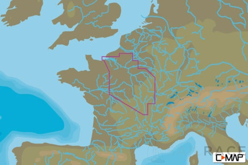 C-MAP EW-N231 : France North West Inland Waters