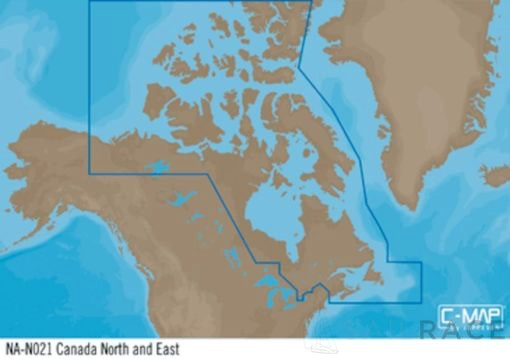 C-MAP NA-Y021 : Canada North and East