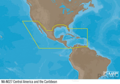 C-MAP NA-Y027 : Central America and the Caribbean