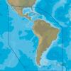 C-MAP SA-N038 : MAX-N C: SOUTH AMERICA AND CARIBBEAN CONTINENTAL : Central and South America . Continental