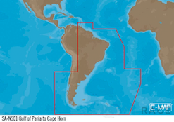 C-MAP SA-Y501 : Gulf of Paria to Cape Horn