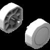 Lowrance Bracket mount knobs for Link-6 VHF radio (White)
