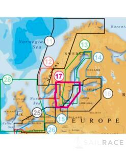 Navico NAVIONICS EU Nordic . Sud de la Suède Cartes marines platine