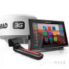 Simrad 12-inch chartplotter and radar display with Broadband 3G™ radar and TotalScan™ transducer
