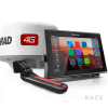 Simrad 12-inch chartplotter and radar display with Broadband 4G™ radar and TotalScan™ transducer