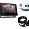 Simrad 7-inch chartplotter and radar display with Broadband 3G™ radar and TotalScan™ transducer