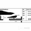 Simrad Cantilever bracket 135-240 mm (5.31-9.44 in)